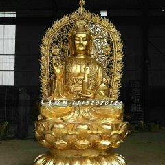 觀世音菩薩銅雕,坐式銅佛像