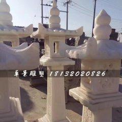 汉白玉石灯,园林景观石雕