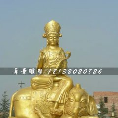 普賢菩薩雕塑,大型佛像銅雕