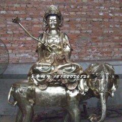 普賢菩薩銅雕,寺廟銅佛像