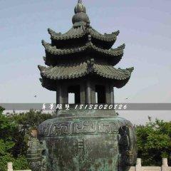青銅香爐雕塑,寺廟香爐雕塑