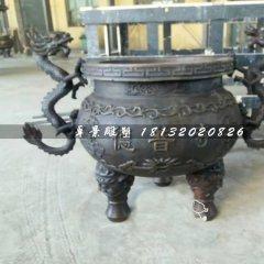 寺廟銅香爐,三足香爐雕塑