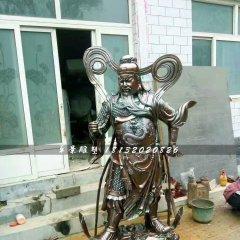 銅關公雕塑,武財神銅雕