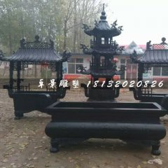 香爐銅雕,寺廟銅香爐