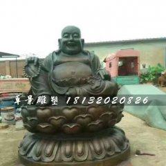 笑面佛銅雕,寺廟銅雕佛像
