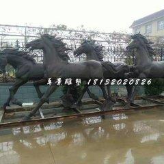 奔馬銅雕,公園動物銅雕