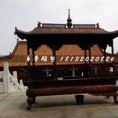 大型香爐銅雕,方形香爐銅雕