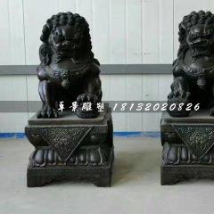 北京獅銅雕,小型銅獅子