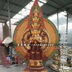 千手千眼觀音菩薩銅雕,寺廟銅佛像