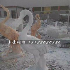 石雕仙鶴,大理石動物雕塑