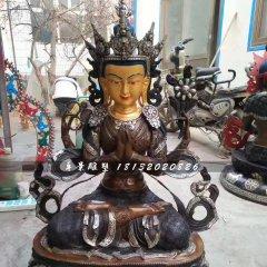 四臂觀音銅雕,寺廟銅佛像