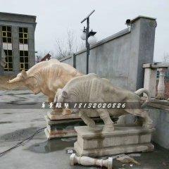石雕牛,大理石開荒牛雕塑