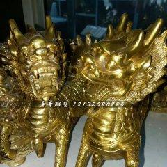 銅麒麟,鑄銅麒麟雕塑