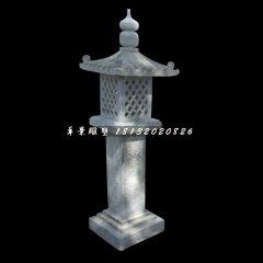 青石灯,公园石灯雕塑