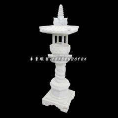 汉白玉灯,园林景观石雕