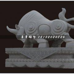 石雕牛,大理石牛雕塑,拓荒牛石雕