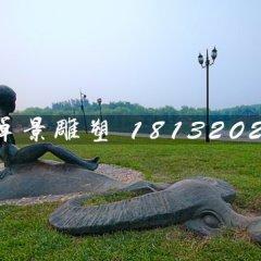 公園牧童雕塑,小品銅雕