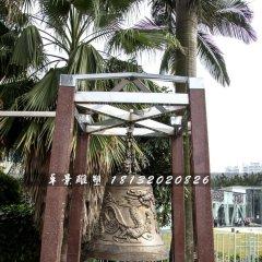 龍浮雕鐘雕塑,銅鐘雕塑