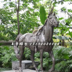 坐騎銅雕,公園銅馬雕塑