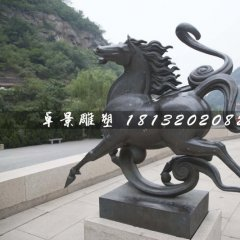 銅馬雕塑,公園動物銅雕