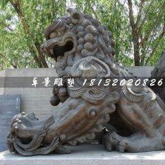 大型銅獅子,戲球獅銅雕