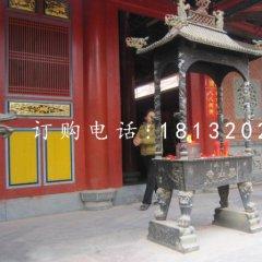 銅雕香爐,寺廟方形香爐銅雕
