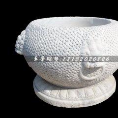 水缸石雕,大理石水缸