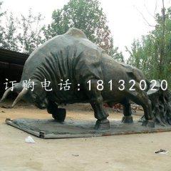 耕地牛銅雕廣場銅牛雕塑