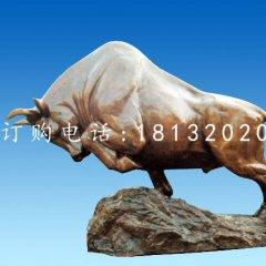 開荒拓荒牛雕塑廣場銅雕牛