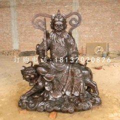 趙公明財神銅雕鑄銅武財神雕塑