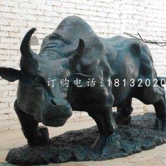 耕地牛雕塑公園景觀銅雕