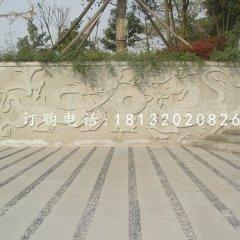 雙龍戲珠浮雕廣場石浮雕