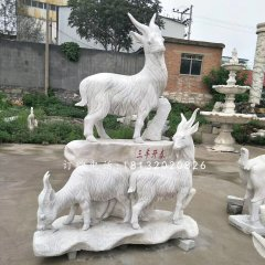 山羊石雕,廣場三陽開泰石雕