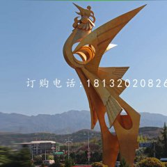凤凰雕塑,广场不锈钢雕塑