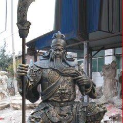持刀關公銅雕,武圣人銅雕