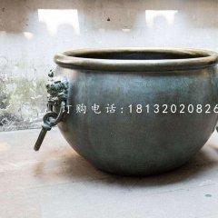 水缸铜雕,青铜水缸雕塑