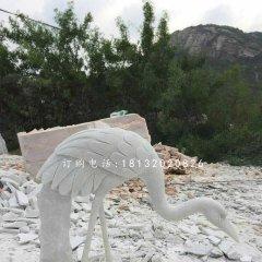 公园仙鹤石雕,汉白玉仙鹤