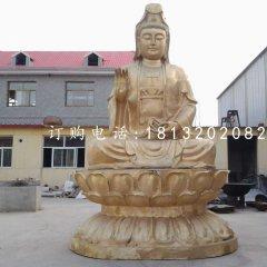 坐式銅觀音,大型菩薩雕塑