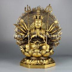 千手觀音銅雕,鑄銅佛像雕塑