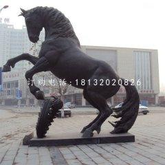 立馬銅雕,廣場銅雕馬