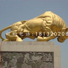拓荒牛銅雕廣場銅牛雕塑