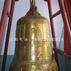 鑄銅鐘,寺廟銅鐘雕塑