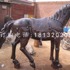 紫銅小馬雕塑公園銅雕馬