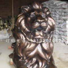 趴著的獅子銅雕西洋獅子雕塑