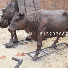 鑄銅奶牛雕塑公園動物銅雕