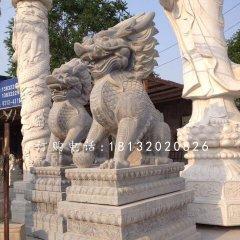 青石麒麟雕塑石雕古代神獸