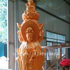 玻璃钢四面观音寺庙佛像雕塑