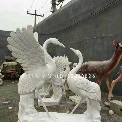 仙鹤石雕,公园大理石仙鹤
