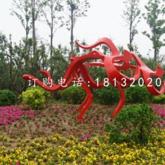不銹鋼賽跑雕塑公園抽象人物雕塑