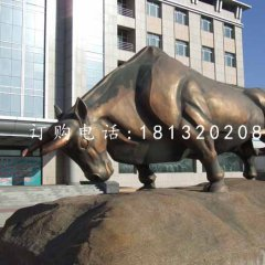 銅牛雕塑廣場拓荒牛銅雕